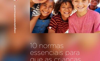 Normas essenciais para que as crianças convivam melhor